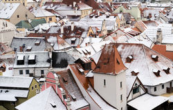 Krumlov town view, Czech republic Royalty Free Stock Photo
