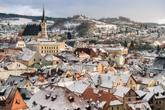 Krumlov town view, Czech republic Stock Photography