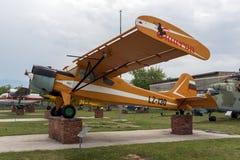 KRUMOVO,普罗夫迪夫,保加利亚- 2017年4月29日:飞机LZ - 130在普罗夫迪夫机场附近的航空博物馆 免版税库存照片
