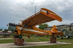 KRUMOVO,普罗夫迪夫,保加利亚- 2017年4月29日:飞机LZ - 130在普罗夫迪夫机场附近的航空博物馆 库存照片