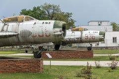 KRUMOVO, PLOVDIV, BUŁGARIA - 29 2017 KWIECIEŃ: Wojownik Mikoyan-Gurevich MiG-19 w lotnictwa muzeum blisko Plovdiv lotniska Obraz Royalty Free