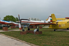 KRUMOVO, PLOVDIV, BULGARIA - 29 APRIL 2017: Plane Yakovlev Yak-52 in Aviation Museum near Plovdiv Airport Stock Image