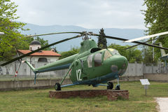 KRUMOVO, PLOVDIV, BULGARIE - 29 AVRIL 2017 : hélicoptère MI 1 dans le musée d'aviation près de l'aéroport de Plovdiv Images stock