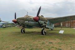 KRUMOVO, PLOWDIW, BULGARIEN - 29. APRIL 2017: Bomber-Tupolev Tu-2 im Luftfahrt-Museum nahe Plowdiw-Flughafen stockbild