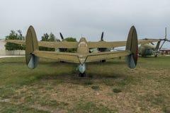 KRUMOVO, PLOWDIW, BULGARIEN - 29. APRIL 2017: Bomber-Tupolev Tu-2 im Luftfahrt-Museum nahe Plowdiw-Flughafen stockfotos