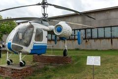 KRUMOVO, PLOWDIW, BULGARIEN - 29. APRIL 2017: Hubschrauber Ka - 26 im Luftfahrt-Museum nahe Plowdiw-Flughafen lizenzfreies stockfoto