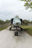 KRUMOVO, PLOWDIW, BULGARIEN - 29. APRIL 2017: Jagdbomber Mikoyan-Gurevich MiG-23 im Luftfahrt-Museum nahe Plowdiw-Flughafen lizenzfreie stockfotografie