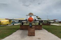 KRUMOVO, PLOWDIW, BULGARIEN - 29. APRIL 2017: Luftfahrt-Museum nahe Plowdiw-Flughafen stockbilder