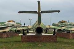 KRUMOVO, PLOWDIW, BULGARIEN - 29. APRIL 2017: Luftfahrt-Museum nahe Plowdiw-Flughafen lizenzfreie stockbilder