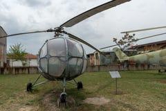 KRUMOVO, PLOWDIW, BULGARIEN - 29. APRIL 2017: Transportieren Sie Hubschrauber H11 B1 im Luftfahrt-Museum nahe Plowdiw-Flughafen stockbild