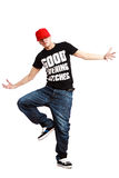 Krump dance. Man is dancing. Isolated on white Stock Images