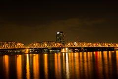 Krung Thep桥梁开启桥在曼谷市, 库存图片