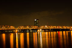 Krung Thep Bridge  Bascule bridge in Bangkok city, Stock Image