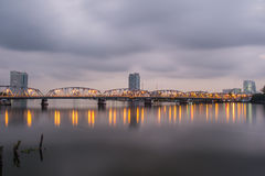 Krung Thon桥梁 库存图片