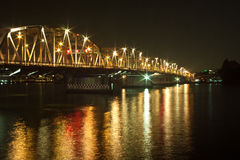 Krung Thon Bridge. Is a bridge over the Chao Phraya River in Bangkok, in Thailand, connecting the districts Dusit and Bang Phlat. The bridge has 6 spans, and stock photo