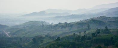 Krungshing fog view point/ sea of fog. At Noppitam, Nakhon Si Thammarat, Thailand Royalty Free Stock Photos