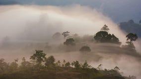 Krungshing-Nebel-Ansichtpunktnebelmeer Lizenzfreie Stockbilder