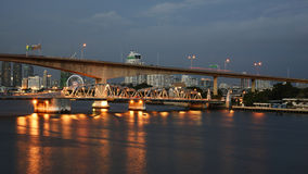 Krungthep Bascule bridge in Bangkok Royalty Free Stock Photography