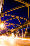 Krungthep-Brückenstrahlnlicht in Bangkok Thailand Lizenzfreies Stockbild
