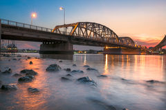 Krungthep Bridge construction with steel Royalty Free Stock Photo