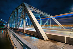 Krungthep bridge at night Stock Image