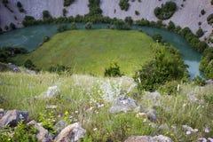 Krupa河峡谷 库存图片