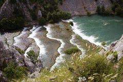 Krupa jaru rzeczny krajobraz w Chorwacja Zdjęcia Stock