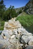 Krupa jaru rzeczny krajobraz w Chorwacja Zdjęcie Stock