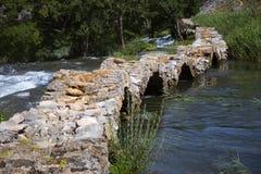 Krupa jaru rzeczny krajobraz w Chorwacja Obraz Royalty Free