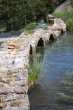 Krupa jaru rzeczny krajobraz w Chorwacja Obrazy Royalty Free