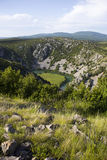 Krupa river canyon. Stock Photo