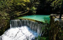 Krupaj vrelo水井自然在塞尔维亚 库存照片