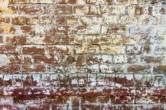 Krupiasty ściana z cegieł Zdjęcie Stock