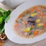 Krupnik – Polish Pearl Barley Soup Royalty Free Stock Image
