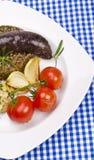 Krupniok traditional blood sausage Stock Photos
