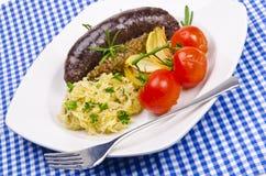 Krupniok traditional blood sausage Royalty Free Stock Photo