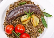 Krupniok traditional blood sausage Royalty Free Stock Images