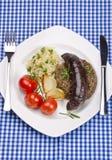 Krupniok traditional blood sausage Stock Photo