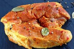 Krupon końcówka naturalny surowy wieprzowiny mięso zdjęcia royalty free