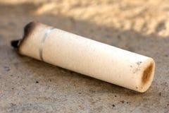 kruponu papierosowy zbliżenia fotografii biel Zdjęcia Royalty Free