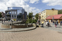 Krupowki street in the downtown Stock Images
