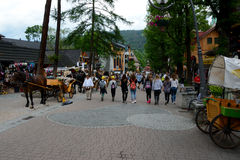 Krupowki street in Zakopane in Poland Stock Photos