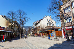 Krupowki street in Zakopane, Poland Stock Photography
