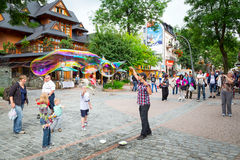 Krupowki street in Zakopane, Poland Royalty Free Stock Photo
