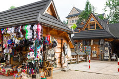 Krupowkistraat in Zakopane, Polen Royalty-vrije Stock Afbeeldingen