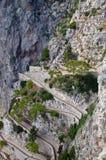 krupp Италии острова capri через Стоковая Фотография