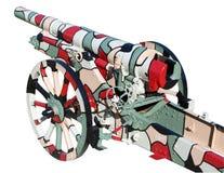 Krupp 105 het Kanon van het Gebied Stock Foto's