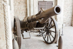 Krupp cannon carriage of the first World War . Stock Images