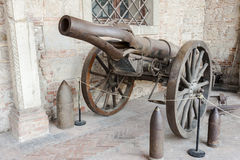 Krupp cannon carriage of the first World War . Stock Photography