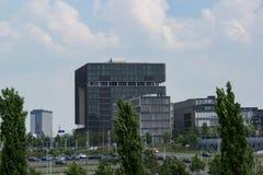 Krupp högkvarter på horisonten arkivfoto